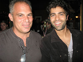 Chef Ric Orlando with Adrian Grenier